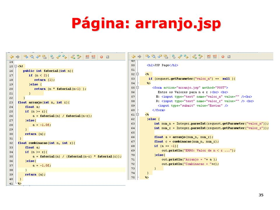 35 Página: arranjo.jsp