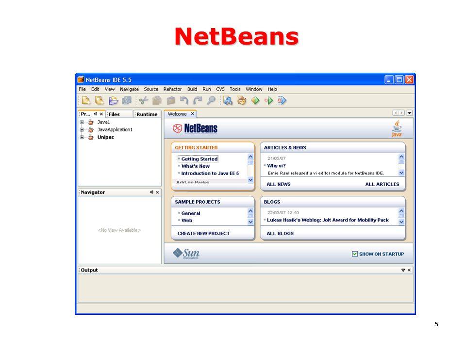 5 NetBeans Samples Exemplos Tutorials Tutorial Workbench Área de trabalho