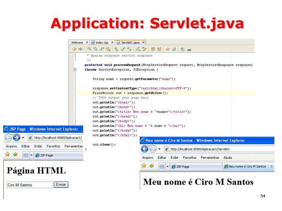 54 Application: Servlet.java
