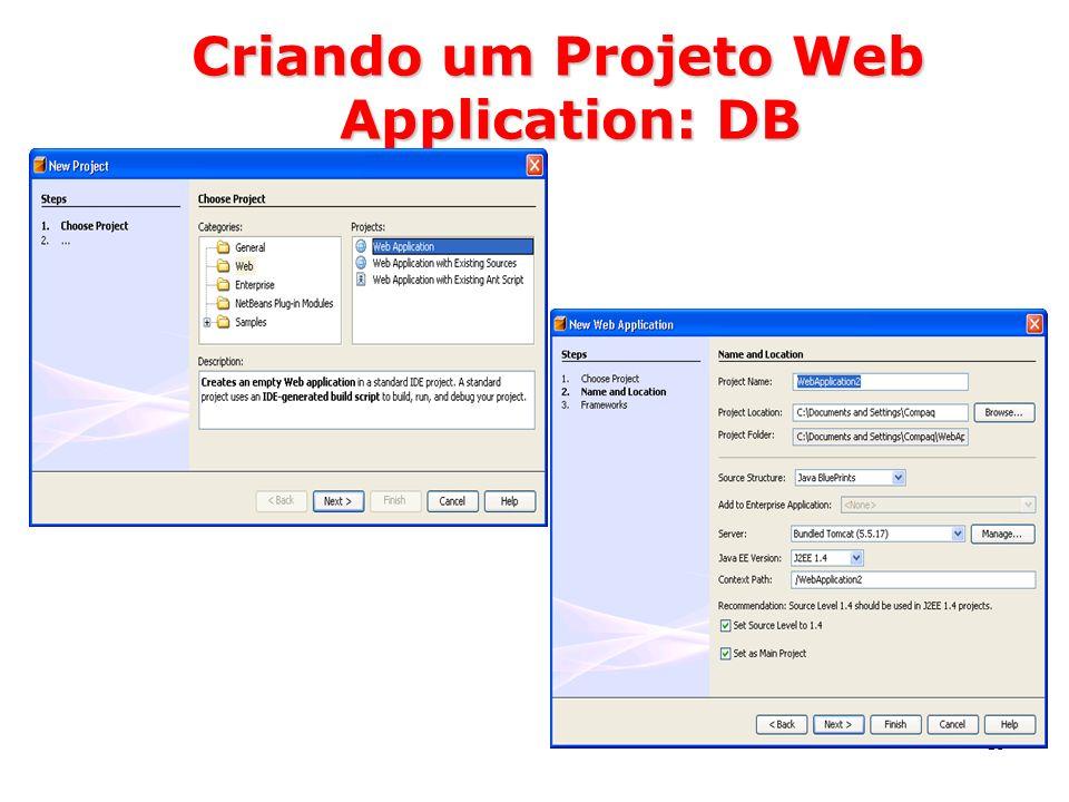 59 Criando um Projeto Web Application: DB