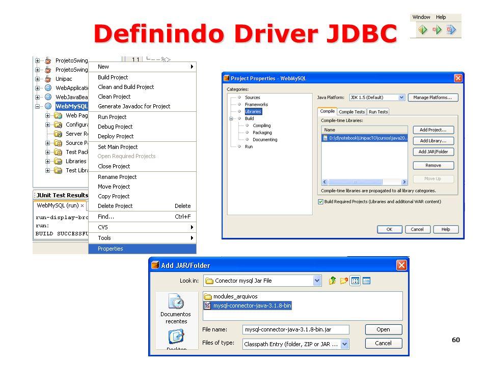 60 Definindo Driver JDBC