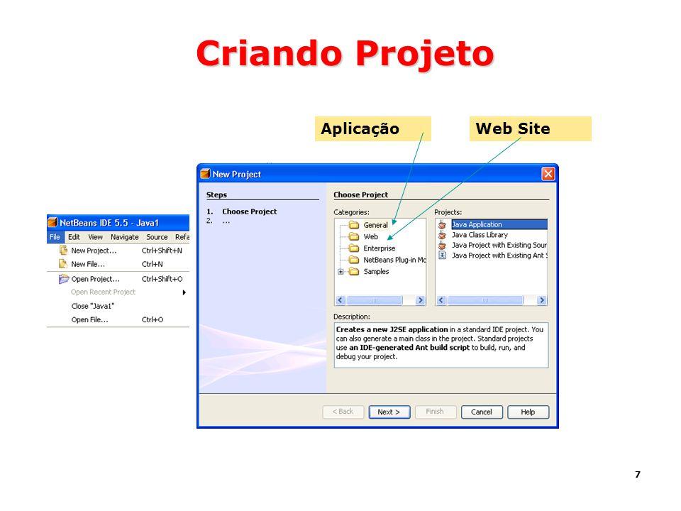 7 Criando Projeto AplicaçãoWeb Site