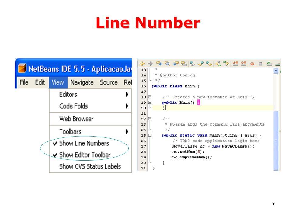 9 Line Number