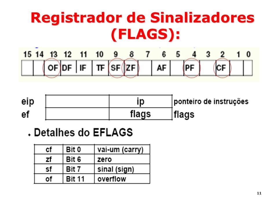 11 Registrador de Sinalizadores (FLAGS):