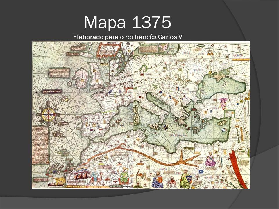 Mapa 1375 Elaborado para o rei francês Carlos V