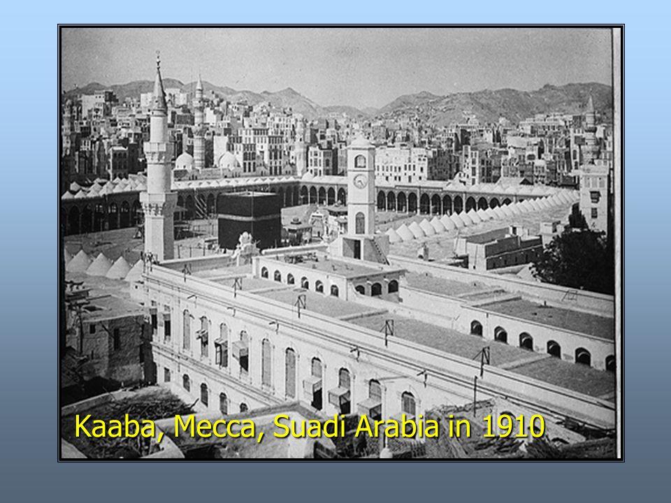 Kaaba, Mecca, Suadi Arabia in 1910