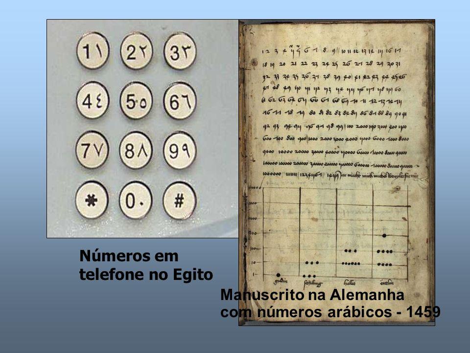 Números em telefone no Egito Manuscrito na Alemanha com números arábicos - 1459