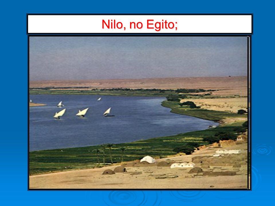 Nilo, no Egito;