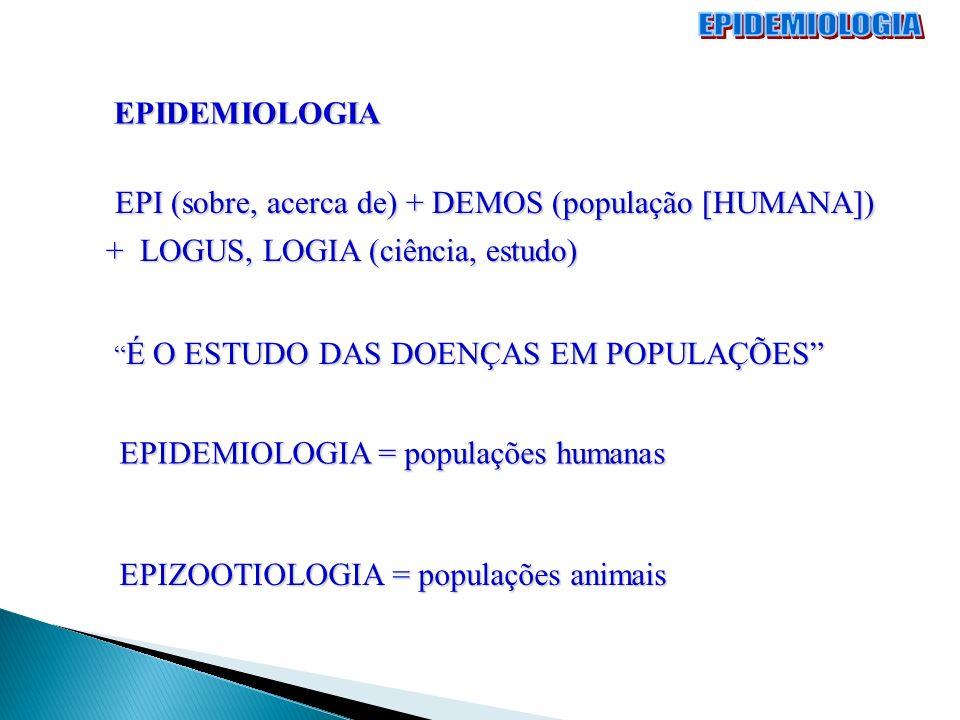 EPIDEMIOLOGIA EPI (sobre, acerca de) + DEMOS (população [HUMANA]) EPI (sobre, acerca de) + DEMOS (população [HUMANA]) + LOGUS, LOGIA (ciência, estudo)