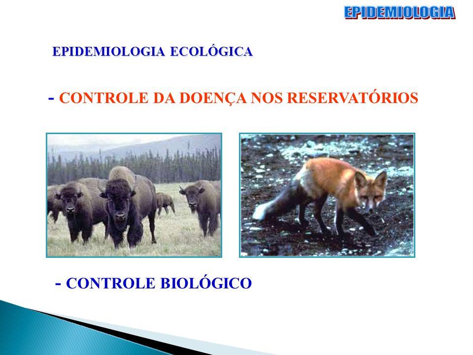 EPIDEMIOLOGIA ECOLÓGICA - CONTROLE DA DOENÇA NOS RESERVATÓRIOS - CONTROLE BIOLÓGICO