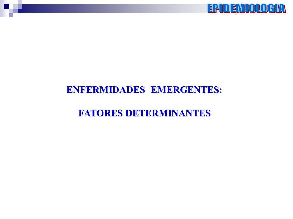 ENFERMIDADES EMERGENTES: FATORES DETERMINANTES