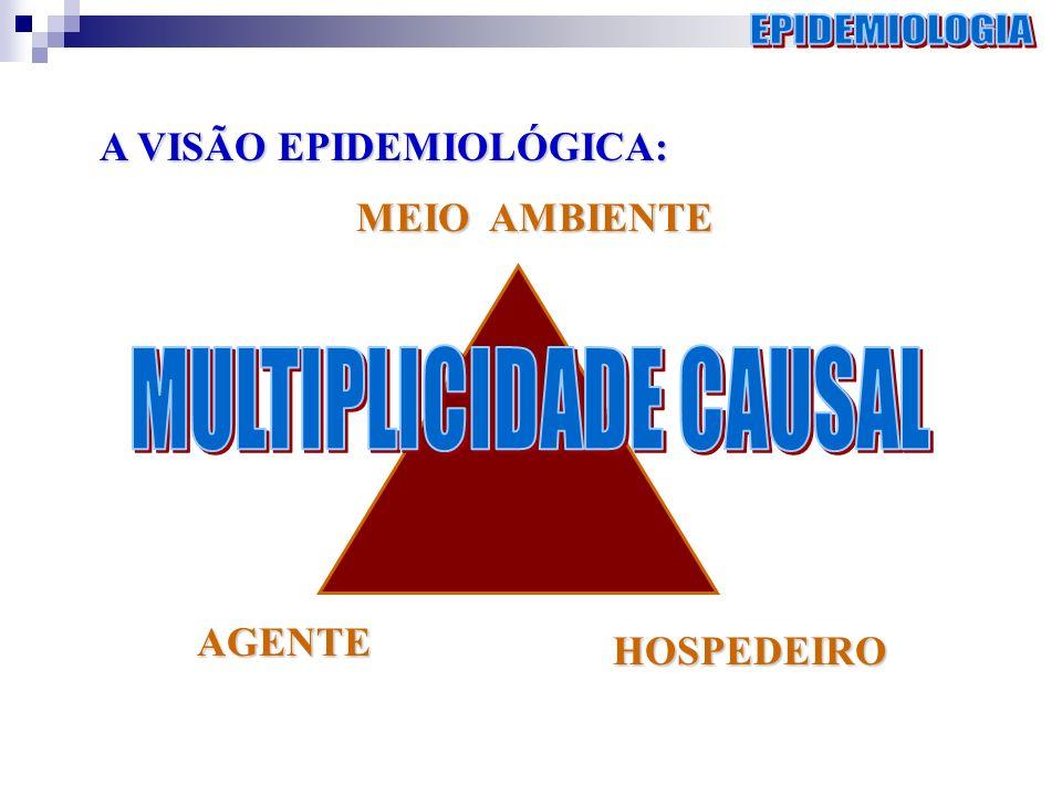 MEIO AMBIENTE AGENTE HOSPEDEIRO A VISÃO EPIDEMIOLÓGICA: