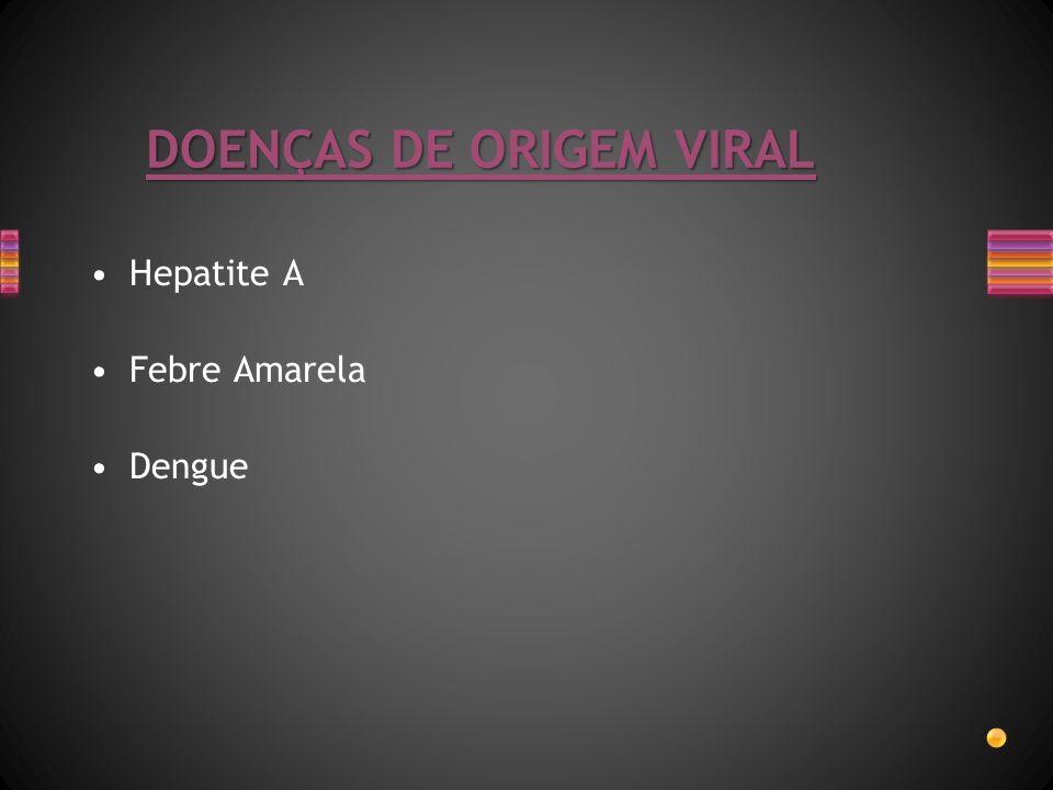 DOENÇAS DE ORIGEM VIRAL Hepatite A Febre Amarela Dengue