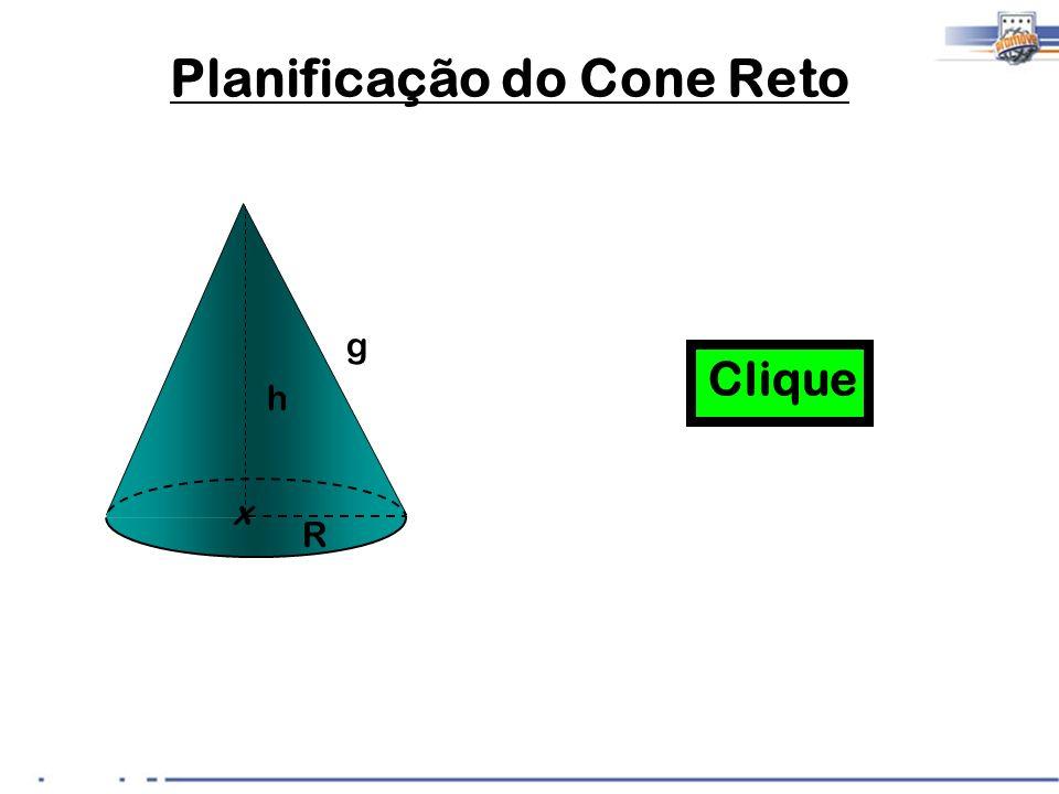 Planificação do Cone Reto R x h g Clique