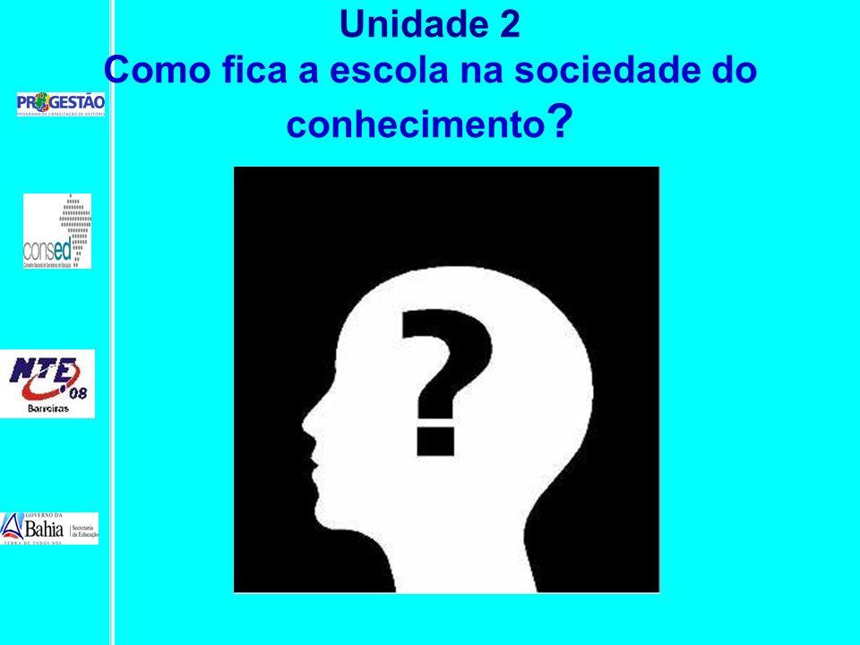 Unidade 2 Como fica a escola na sociedade do conhecimento ?