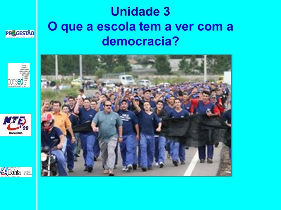 Unidade 3 O que a escola tem a ver com a democracia?