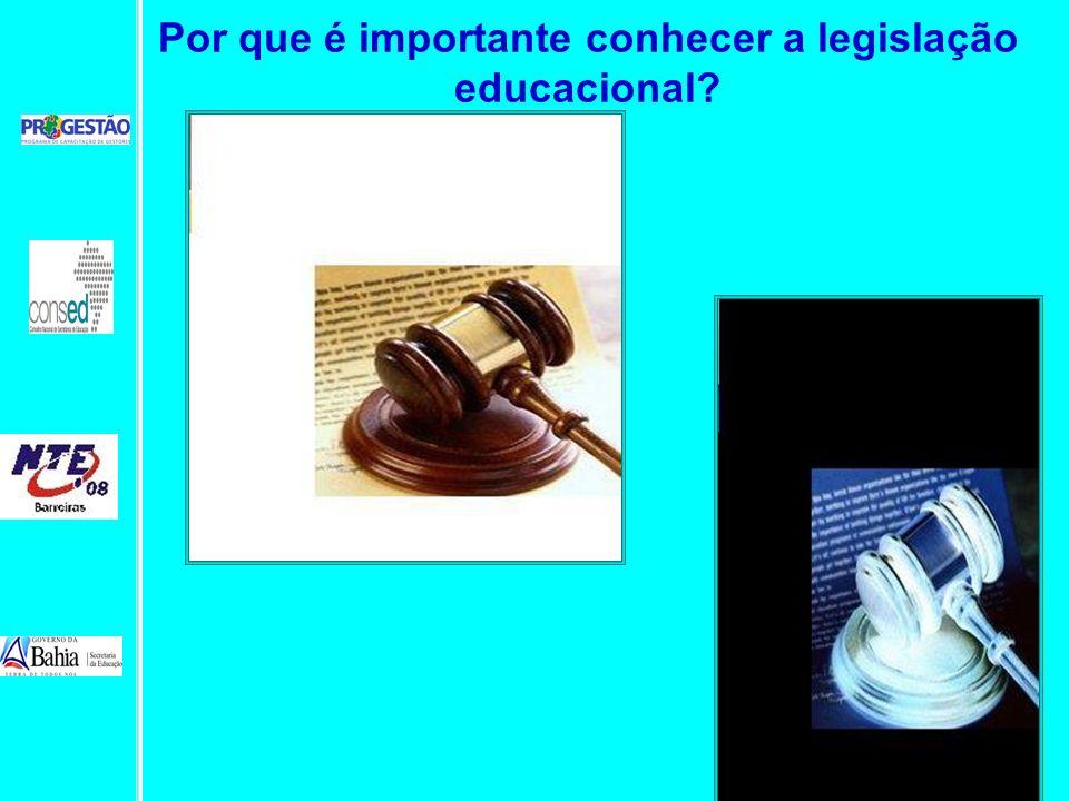 Por que é importante conhecer a legislação educacional?