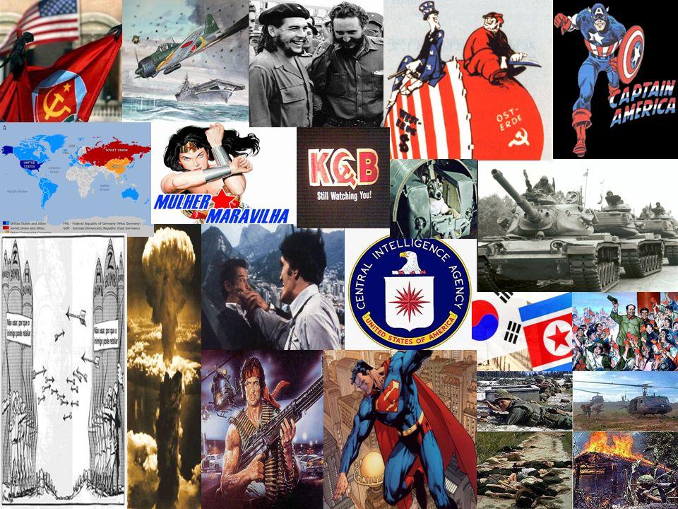 FINAL DA SEGUNDA GUERRA: - enfraquecimento das grandes potências européias - emergência de duas grandes potências (Bipolaridade): EUA/Capitalista XURSS/Comunista