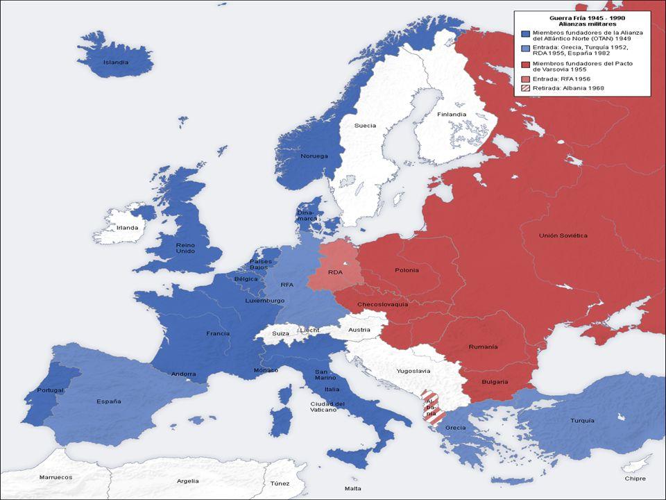 CORRIDA ARMAMENTISTA 1949 – URSS = bomba atômica (de 20 mil toneladas de T.N.T - 20 KiloTons) 1952 – EUA = bomba de Hidrogênio (10,4 megatoneladas de T.N.T.