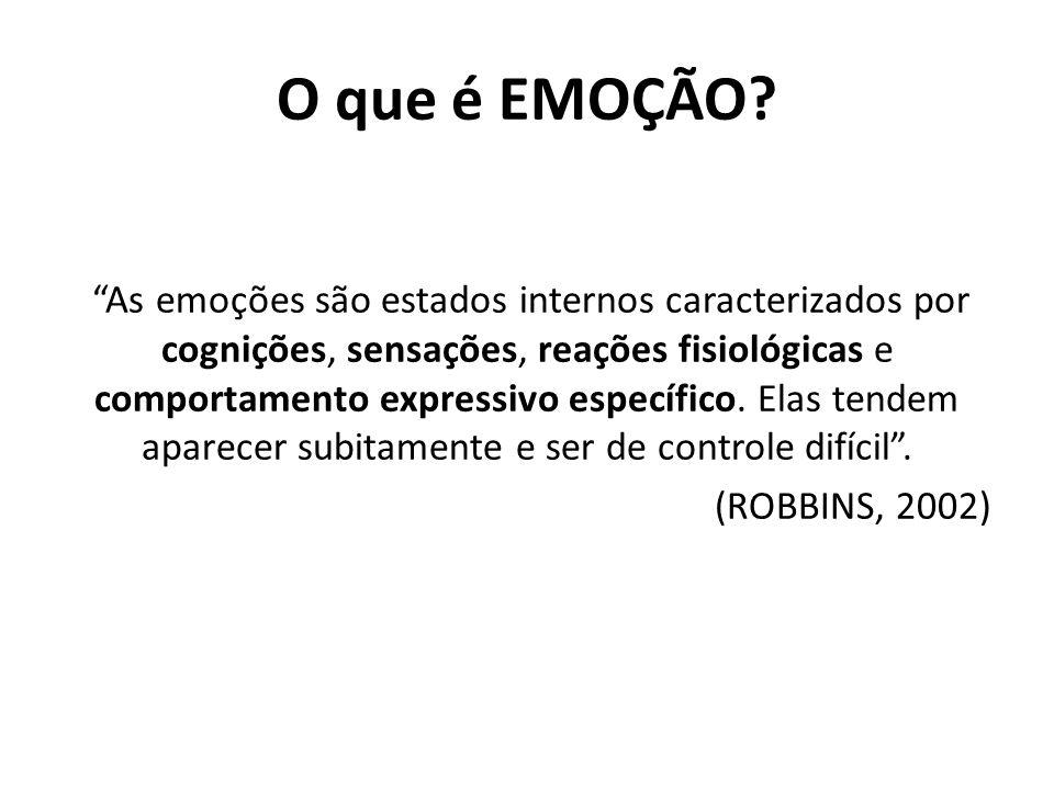 Emoções Demonstradas – São adquiridas pela organização e consideradas apropriadas para uma determinada tarefa.