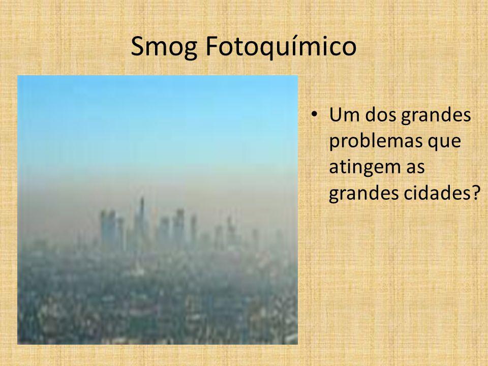 Smog Fotoquímico Um dos grandes problemas que atingem as grandes cidades?