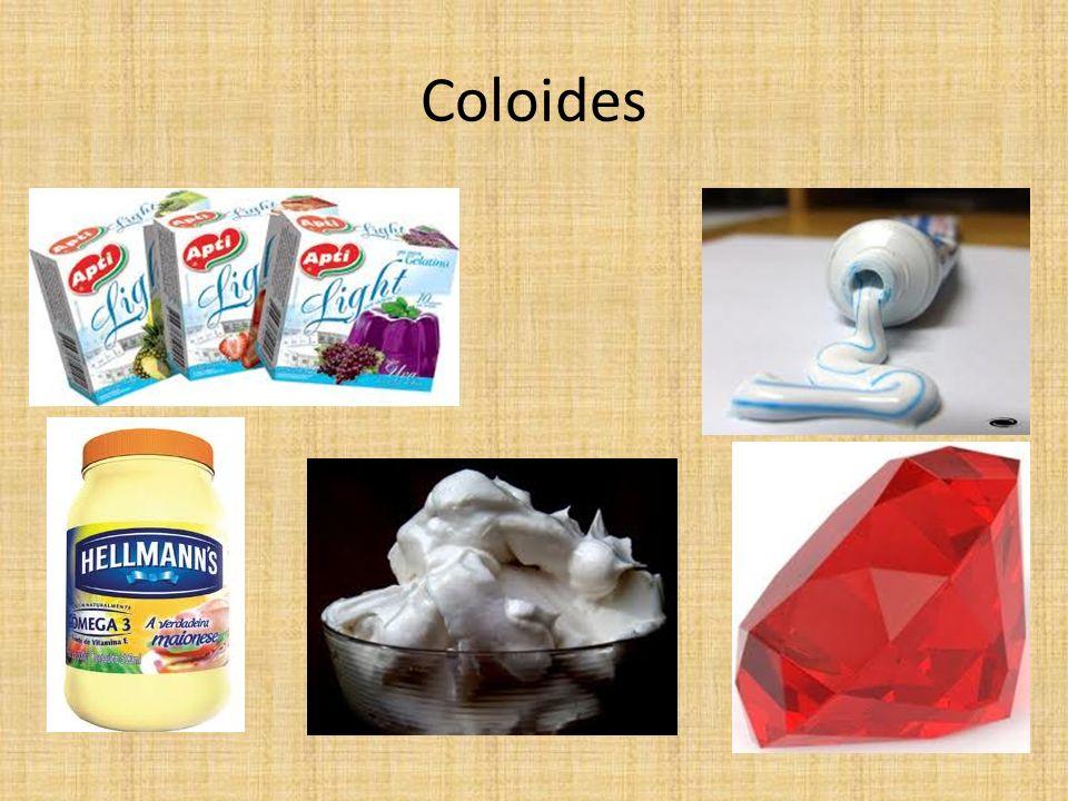 Emulsões (líquidas) e emulsões sólidas O leite e a maionese (meio contínuo: água, fase dispersa: gordura) assim como a manteiga e a margarina (meio contínuo: óleo, fase dispersa: água) são exemplos de emulsões (líquidas).