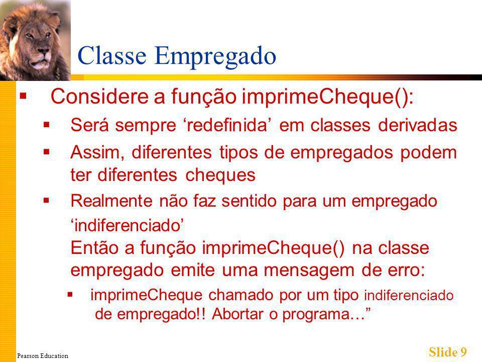 Pearson Education Slide 20 Armadilha: Dados Privados da Classe-Base Classes derivadas herdam variáveis-membros privadas Mas não podem acessá-las diretamente Nem mesmo através de funções-membros da classe derivada.