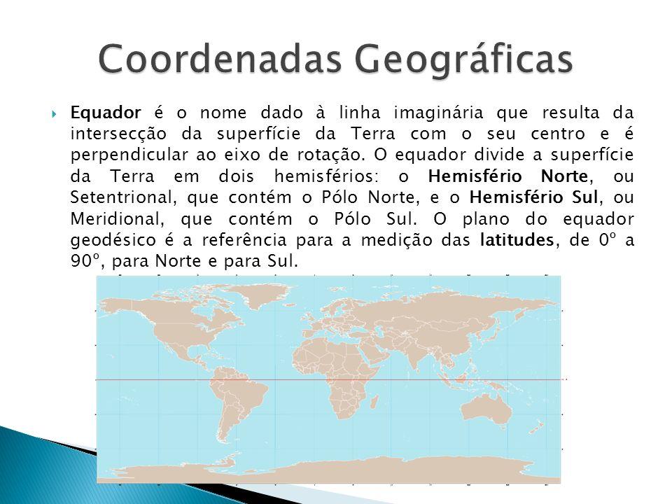 Equador é o nome dado à linha imaginária que resulta da intersecção da superfície da Terra com o seu centro e é perpendicular ao eixo de rotação. O eq