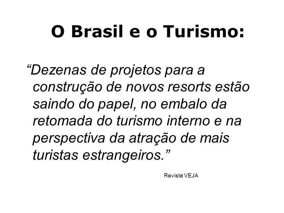 O Turismo no Brasil ëO grande gerador de emprego e renda no século XXI será o setor terciário da economia (comércio e serviços); ëUm dos maiores gerad