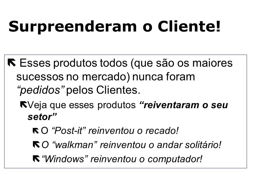 Qual Cliente pediu? ë Fax ë Telefone celular ë Mc Donalds ë Relógio digital ë Windows ë Post-it (3M) ë Walkman ë Linux