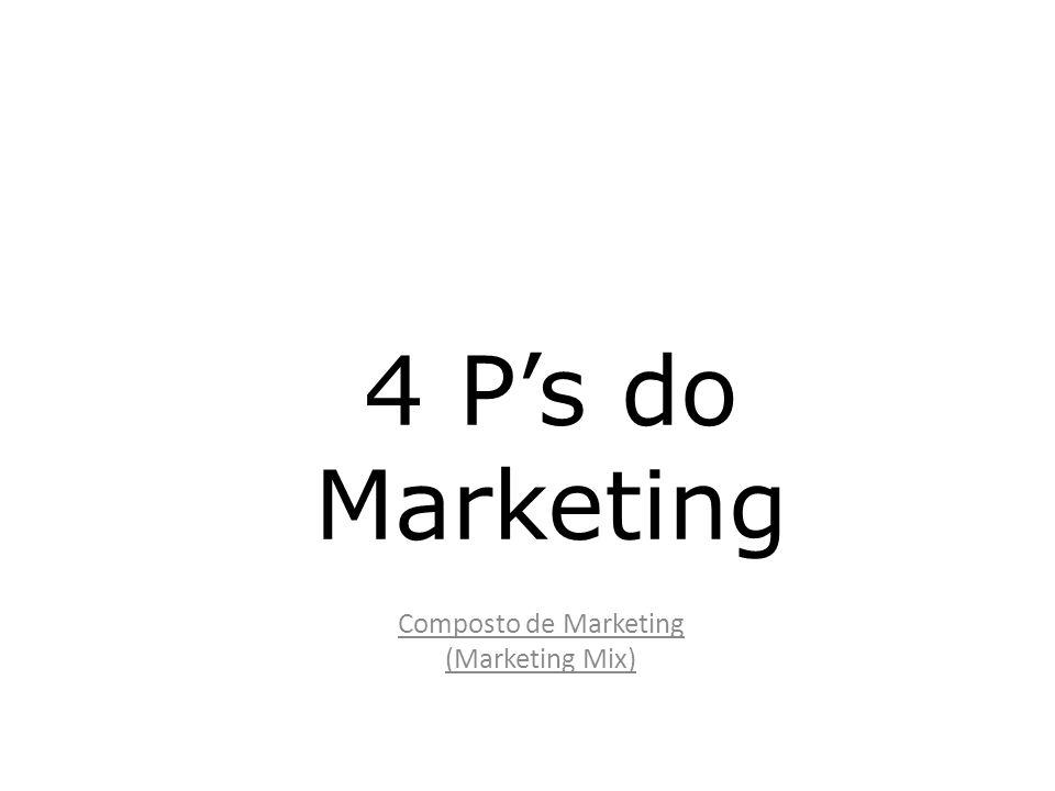 Marketing Mix Uma empresa interage com o ambiente externo e interno através do que o Profissional de Marketing define no chamado Composto de Marketing.