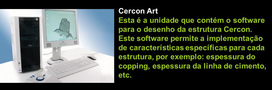 Fresagem do bloco de zircônia pré-sinterizado no CERCON BRAIN Colocação da peça no CERCON HEAT