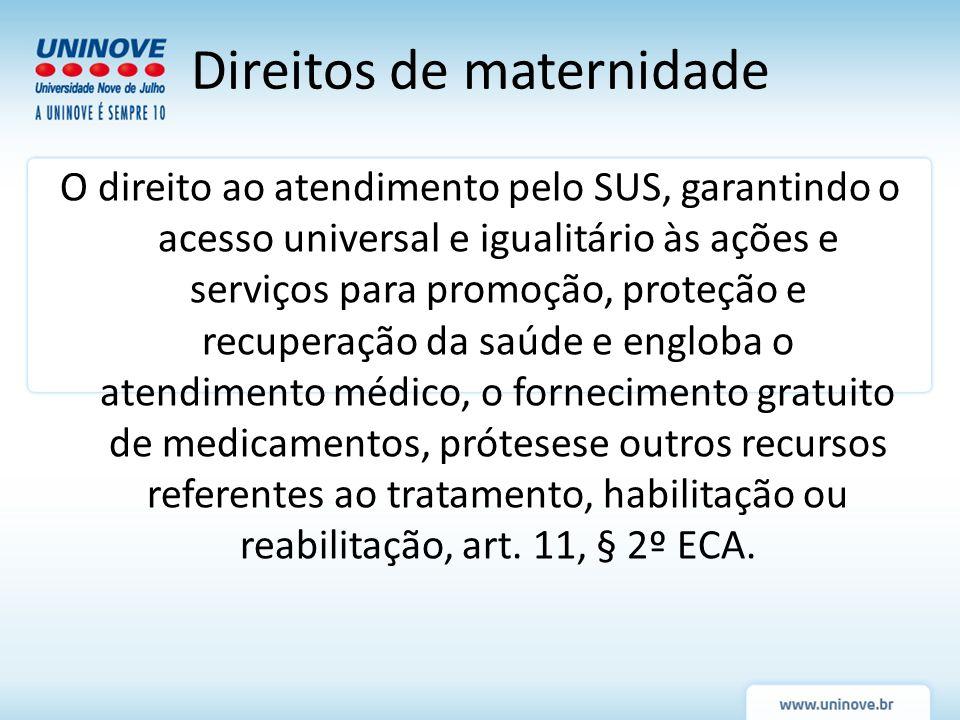 O direito ao atendimento pelo SUS, garantindo o acesso universal e igualitário às ações e serviços para promoção, proteção e recuperação da saúde e en