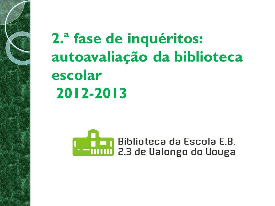 2.ª fase de inquéritos: autoavaliação da biblioteca escolar 2012-2013