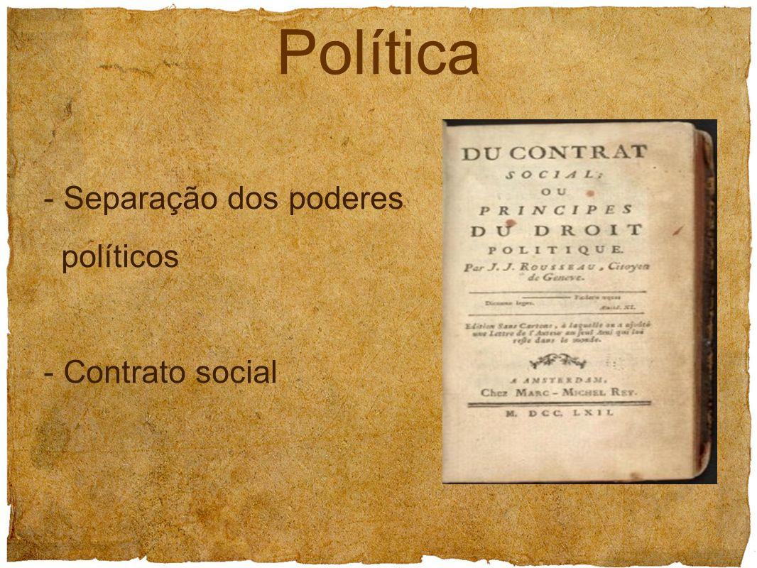 - Separação dos poderes políticos - Contrato social Política