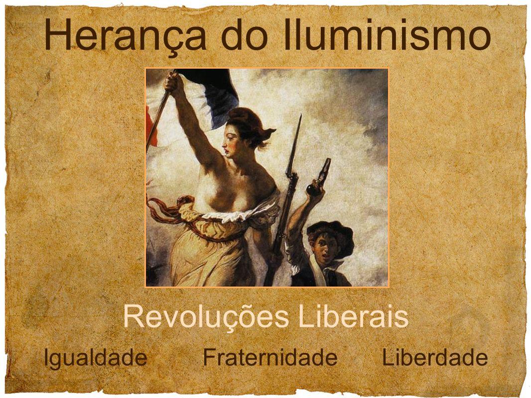 Herança do Iluminismo Revoluções Liberais Igualdade Fraternidade Liberdade