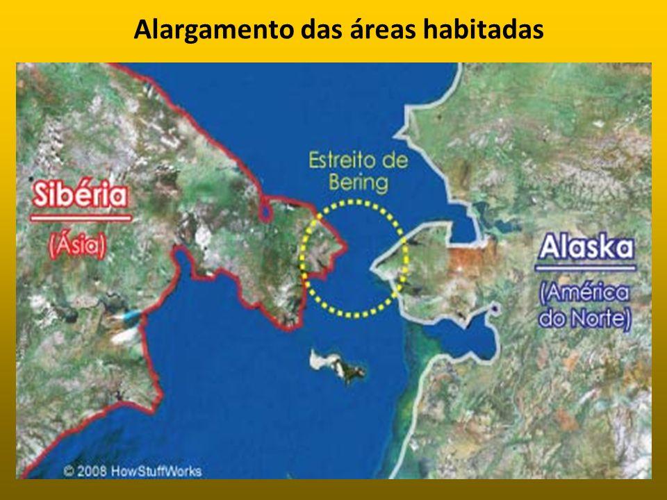 Alargamento das áreas habitadas