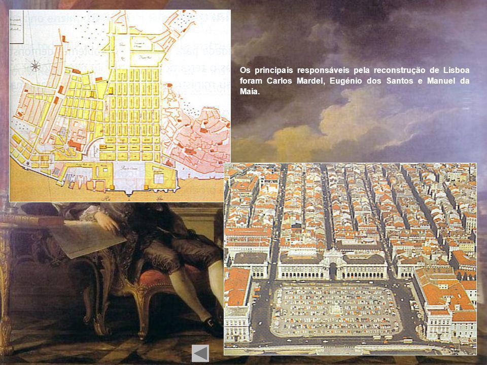 Interior do Convento do Carmo após o terramoto de 1755.