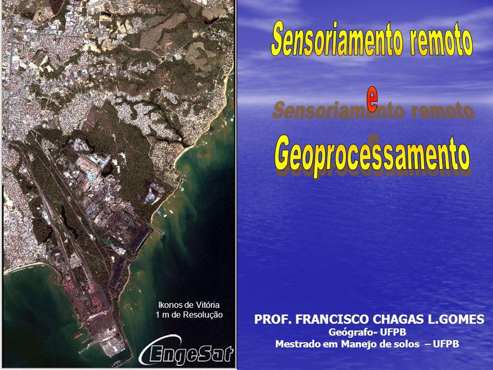 Ikonos de Vitória 1 m de Resolução PROF. FRANCISCO CHAGAS L.GOMES Geógrafo- UFPB Mestrado em Manejo de solos – UFPB