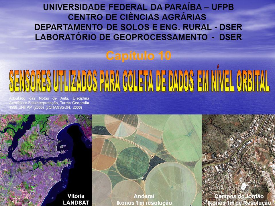 Capítulo 10 UNIVERSIDADE FEDERAL DA PARAÍBA – UFPB CENTRO DE CIÊNCIAS AGRÁRIAS DEPARTAMENTO DE SOLOS E ENG. RURAL - DSER LABORATÓRIO DE GEOPROCESSAMEN