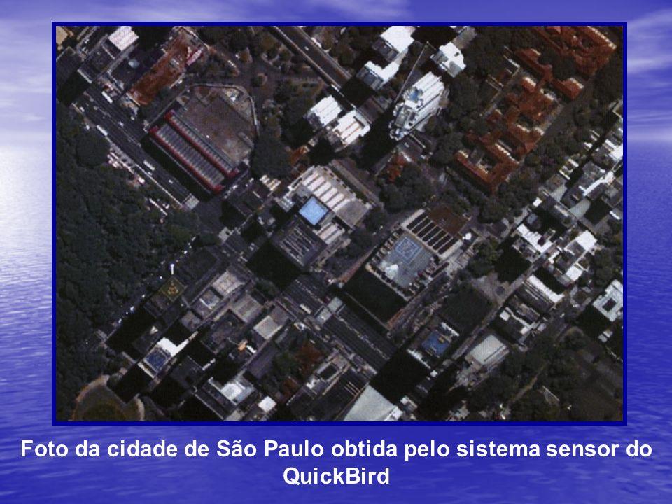 Foto da cidade de São Paulo obtida pelo sistema sensor do QuickBird