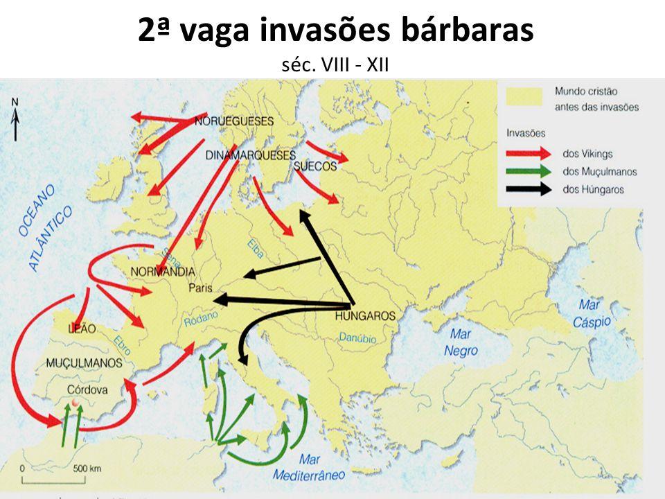 2ª vaga invasões bárbaras séc. VIII - XII