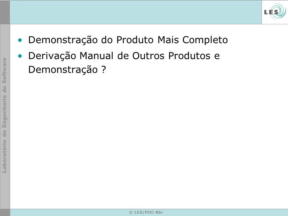 Demonstração do Produto Mais Completo Derivação Manual de Outros Produtos e Demonstração .