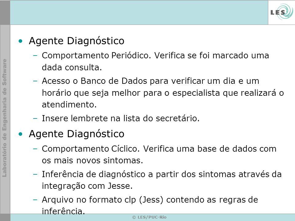 Agente Diagnóstico –Comportamento Periódico. Verifica se foi marcado uma dada consulta.