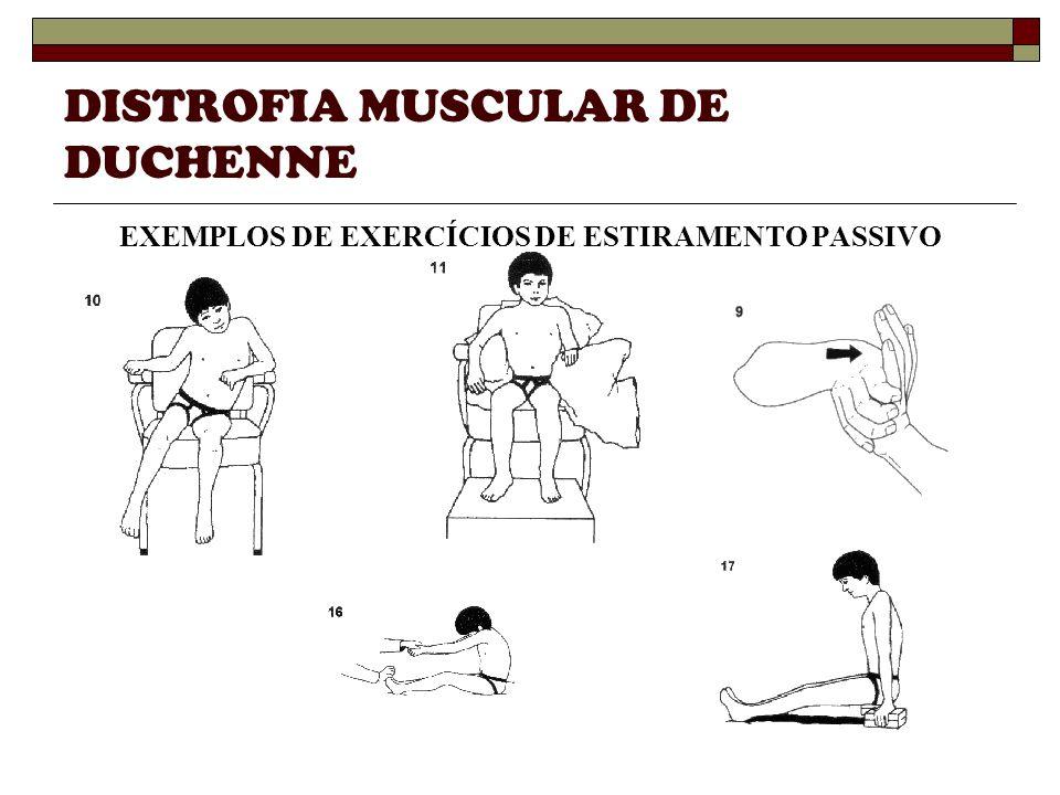 DISTROFIA MUSCULAR DE DUCHENNE EXEMPLOS DE EXERCÍCIOS DE ESTIRAMENTO PASSIVO