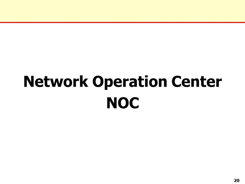 2020 Network Operation Center NOC