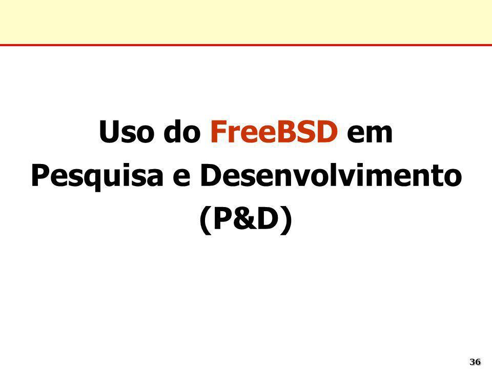 3636 Uso do FreeBSD em Pesquisa e Desenvolvimento (P&D)