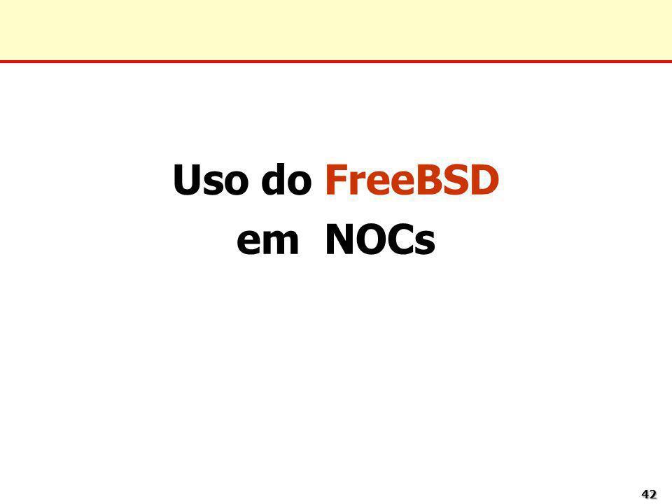 4242 Uso do FreeBSD em NOCs