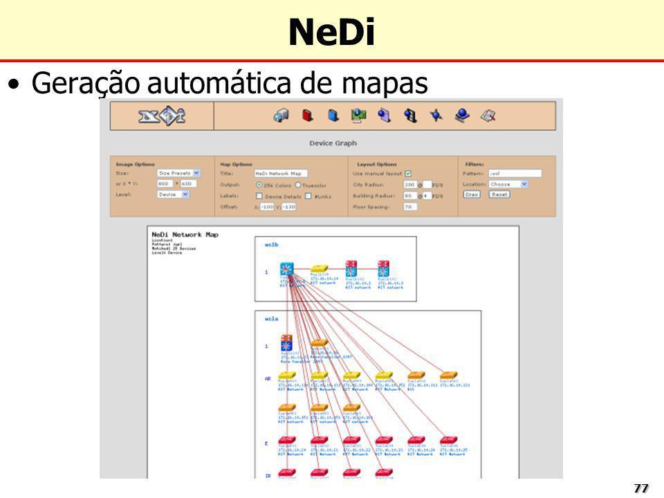 7777 NeDi Geração automática de mapas