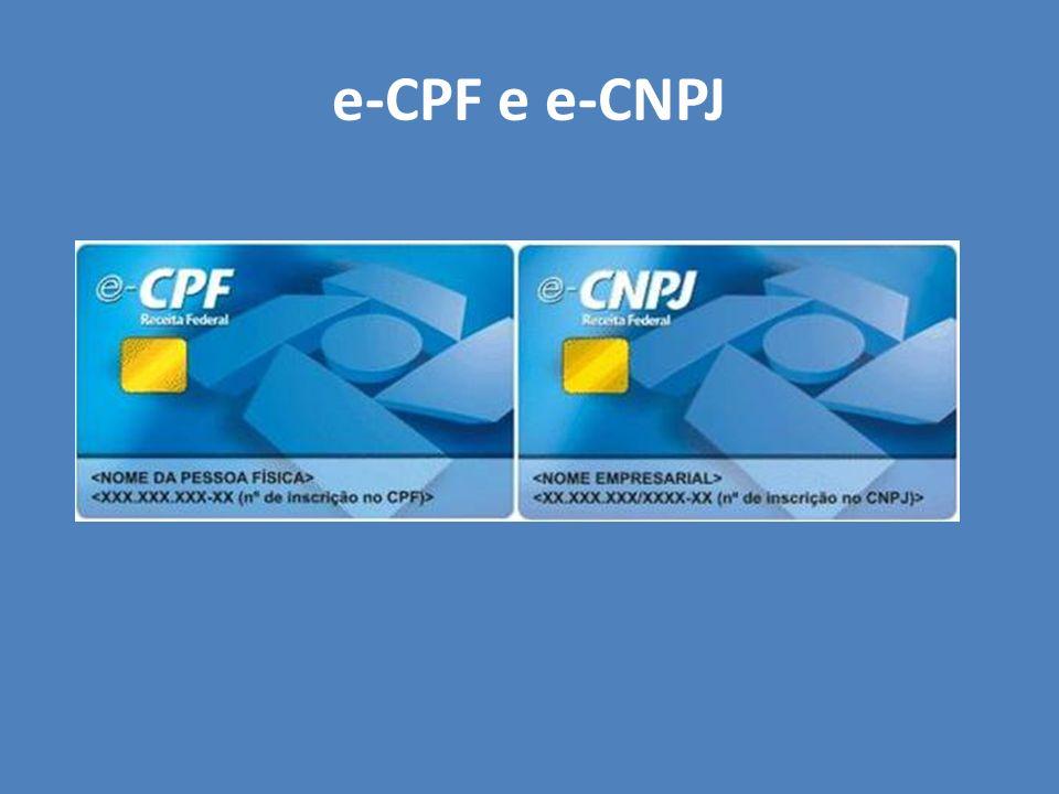 e-CPF e e-CNPJ